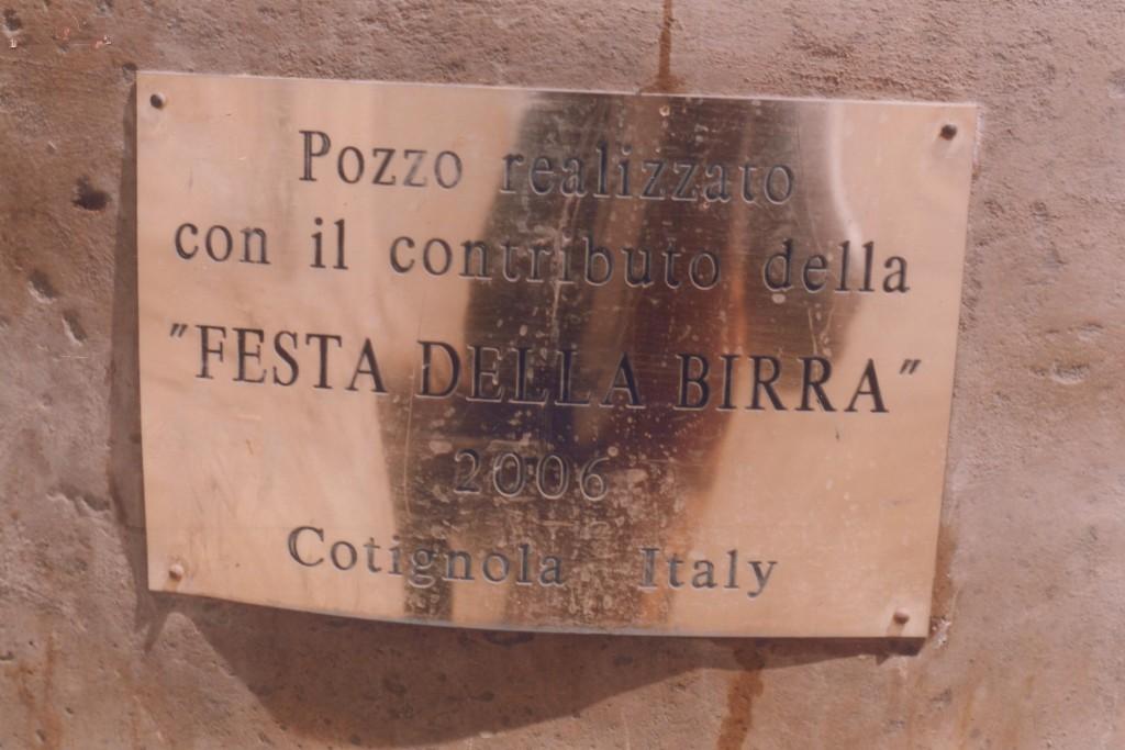 2007 Pozzo con targa - 2